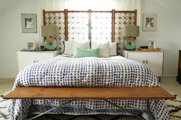 Bohemian Modern Bright White bedroom