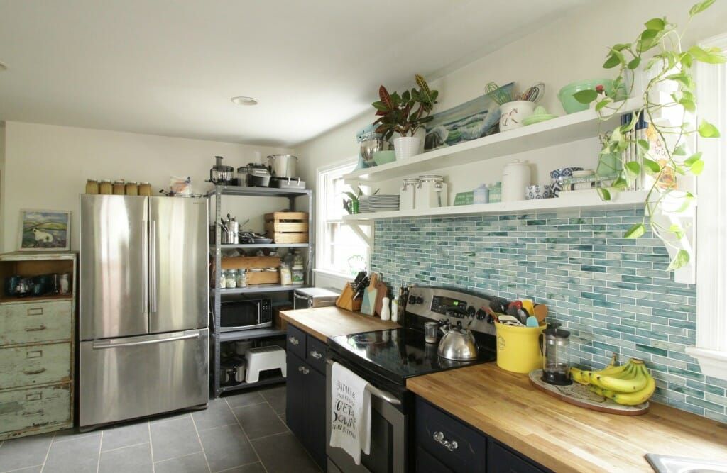 Eclectic Kitchen in blues and greens for Spring