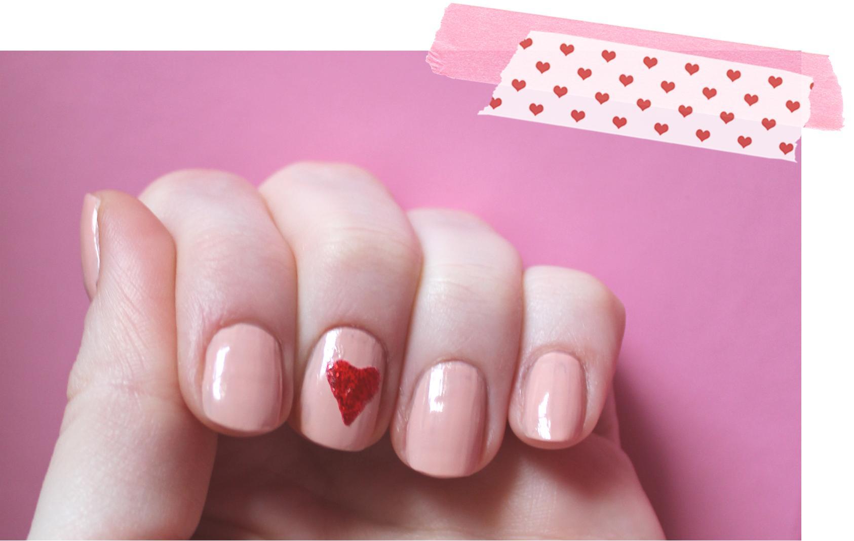 Valentine's Day Heart Nail Polish