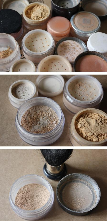 cassiefairy use up make up challenge mix your own perfect match mineral foundation