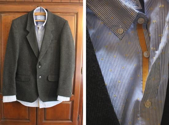 mens fashion look using casual joules shirt and smart tweed blazer