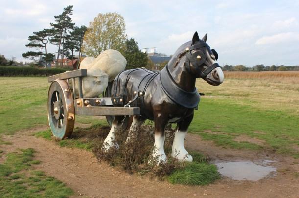 snape maltings Sarah Lucas public art Perceval bronze horse 2006