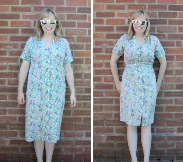 before and after vintage dress
