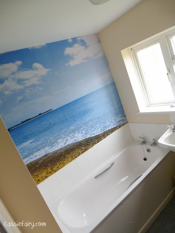 How to create a photowall in your home for Seascape bathroom ideas