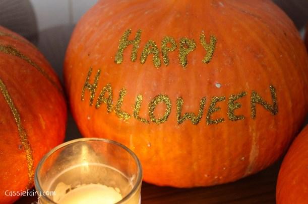 DIY glitter pumpkins for halloween - step by step tutorial-10