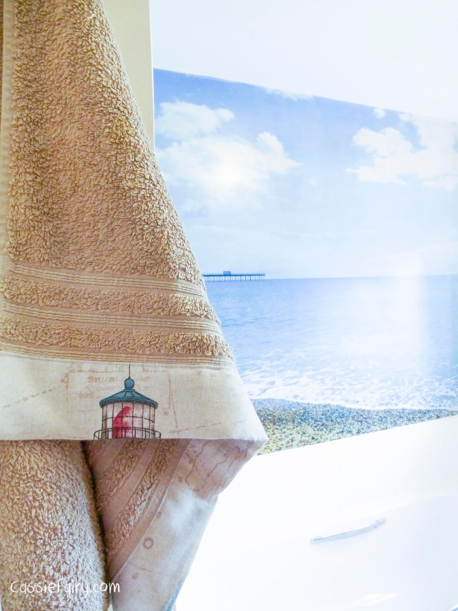 Oh, I do like to be beside the seaside! DIY sewing project: towels for the bathroom