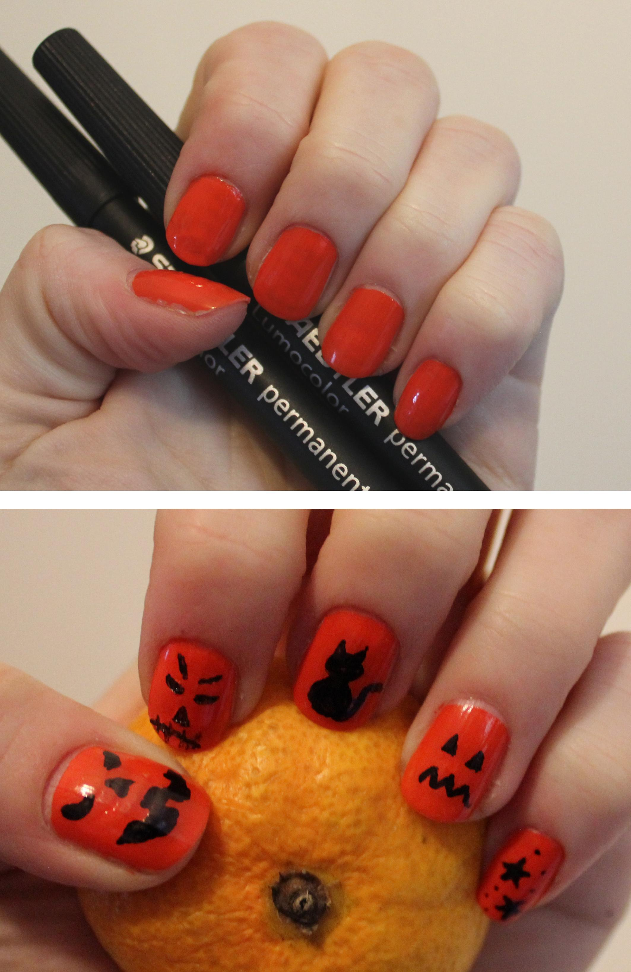 halloween-manicure-diy-nail-art-tutorial-orange-and-black-pumpkin