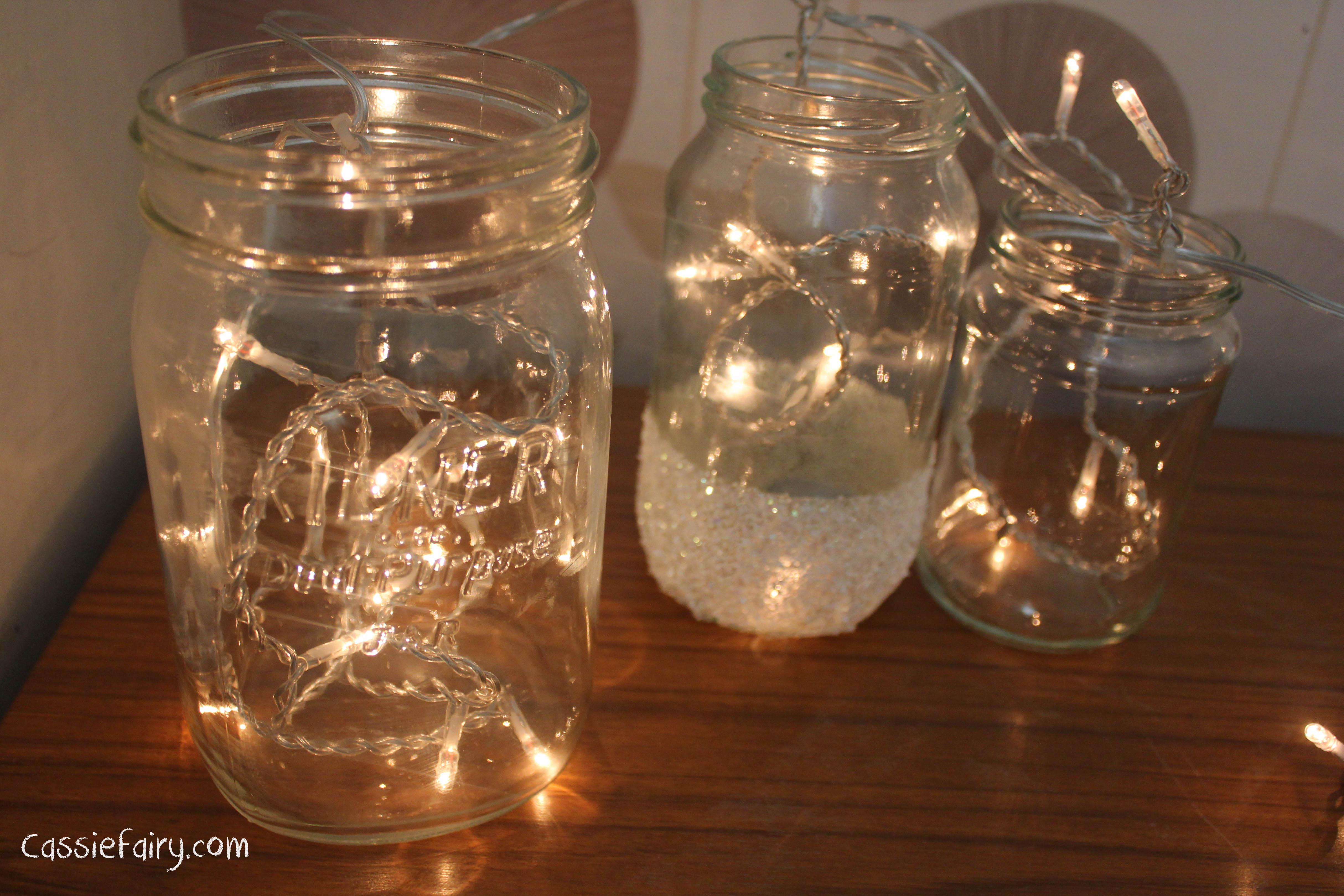 Diy Festive Fairies In Snow Covered Kilner Jars