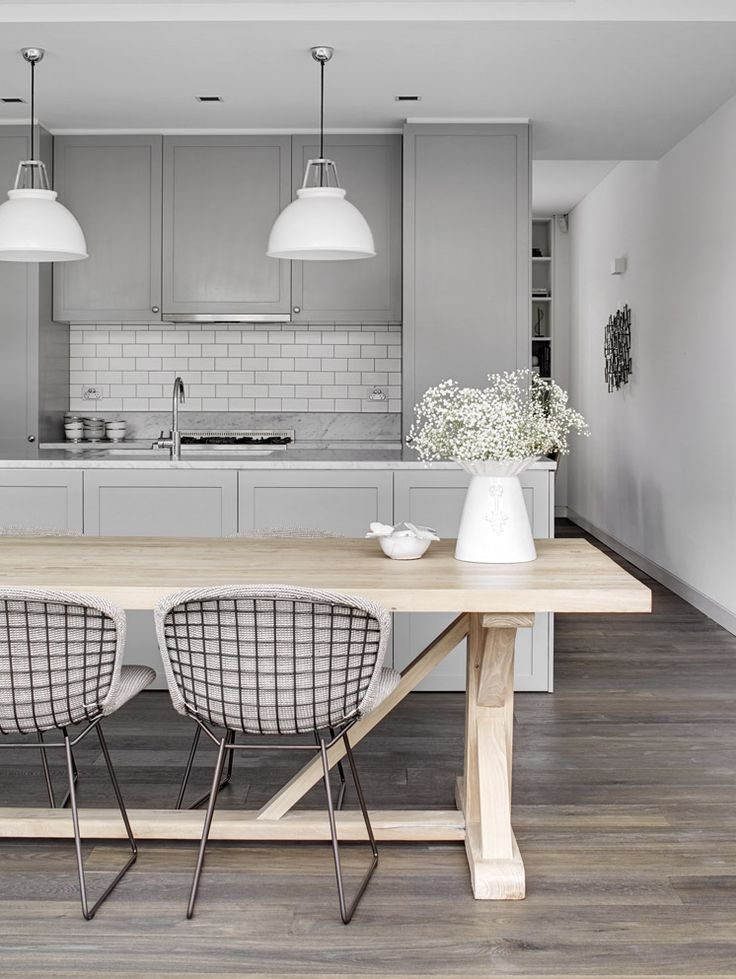 Interior design inspiration fifty shades of grey for Modern white and gray kitchen