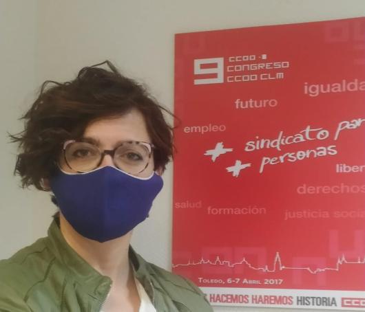 Carolina Vidal, secretaria de Acción Sindical y Formación Sindical de CCOO CLM
