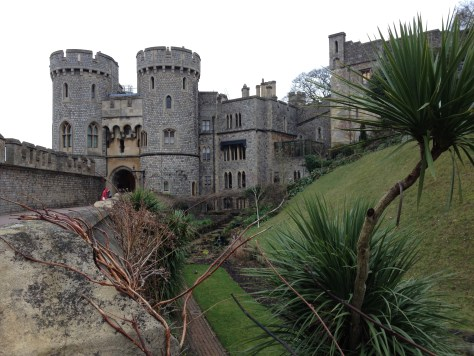 Windsor Castle grounds, view of the Norman Gate