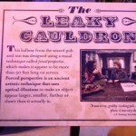 a few words about the Leaky Cauldron