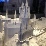 small scale model of Hogwarts at the Warner Bros Studio Tour