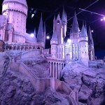 large scale model of Hogwarts at the Harry Potter studios near London