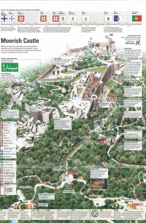 map of the Castle of the Moors you can pick up at the entrance