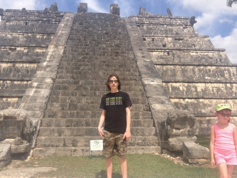 Neither of our kids was too excited about visiting Chichen Itza, especially because it was incredibly hot that day. In the end, however, they decided they liked it, especially our son.