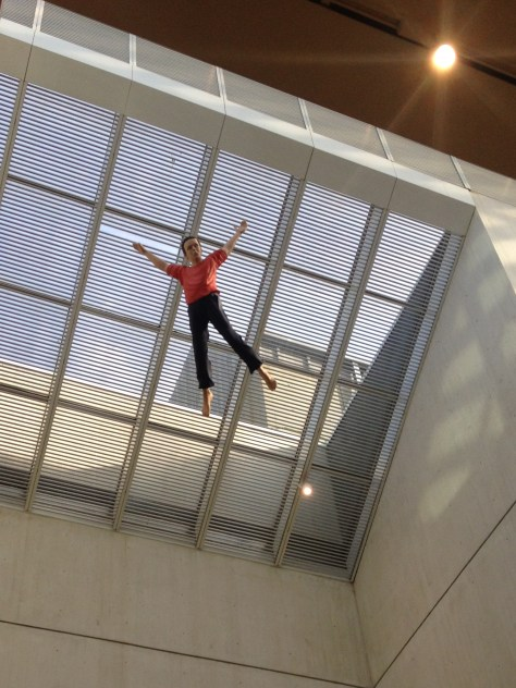 "Jonathan Borofsky's ""I Dreamed I Could Fly"" from 2000, in the Linde Family Wing at the Museum of Fine Arts, Boston"