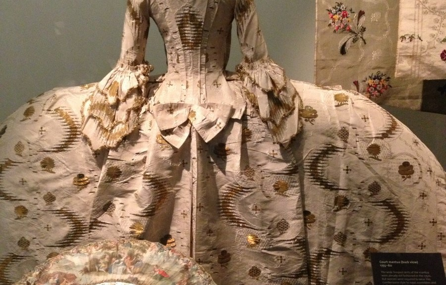 a magnificent gown at the Victoria and Albert Museum