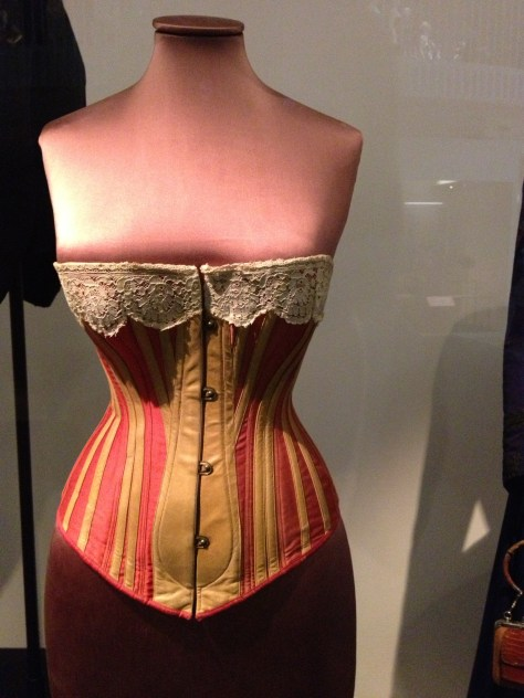 1883 corset at the Victoria & Albert Museum in London