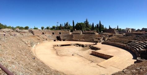 Anfiteatro Romano, Roman Amphitheatre in Mérida, Spain