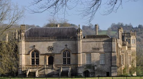 Lacock Abbey, which was used as a location for several scenes in Harry Potter movies and others