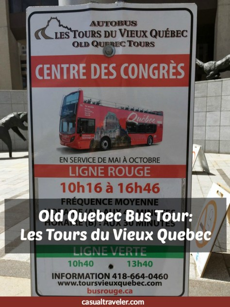 Old Quebec Bus Tour: Les Tours du Vieux Quebec Pinterest Pin