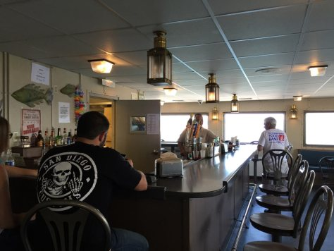 full bar on the Cross Sound Ferry