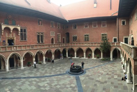 inside the courtyard of Collegium Maius which you can see even if you decide not to tour the university museum