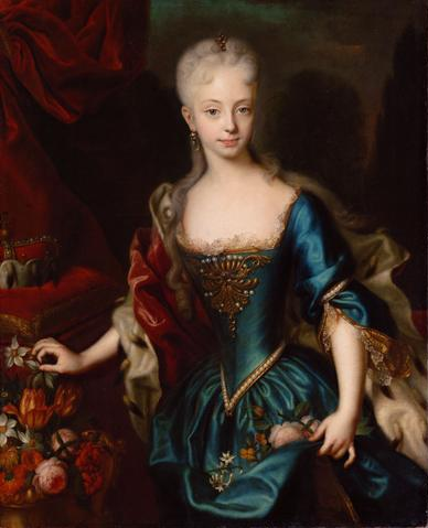 Maria Theresa at around 10 years of age, by Andreas Möller [Public domain], via Wikimedia Commons