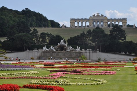 Great Parterre with Gloriette in the distance