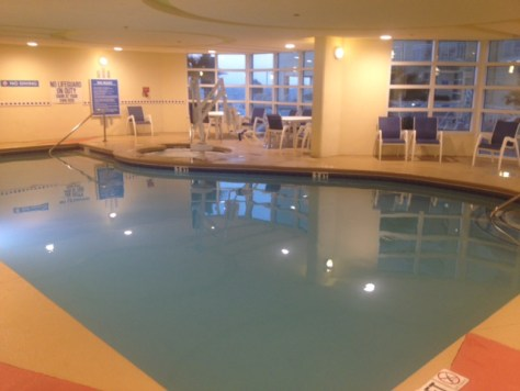 indoor pool at the Wyndham in Myrtle Beach
