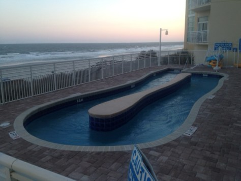smaller lazy river at the Wyndham in Myrtle Beach