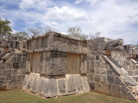 Wall of Skulls is the platform of the Tigers and Eagles, sometimes also called a Temple of the Eagles and Jaguars