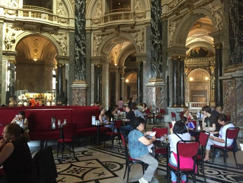 Cafeteria in the Cupola Hall at the Kunsthistorisches Museum in Vienna, Austria