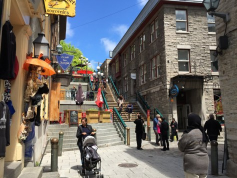lovely street in Quebec City we visited in May 2015
