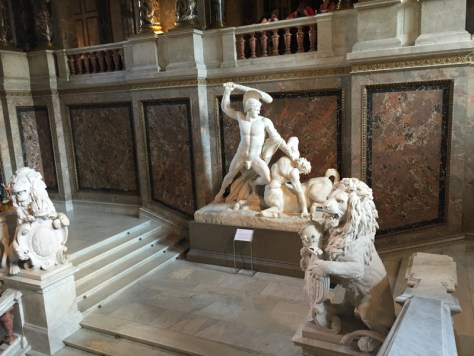 Theseus by Antonio Canova in the main staircase leading up to the second floor