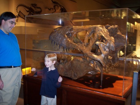 Very excited to see the dinosaurs at the National Museum of National History in Washington, DC in 2006