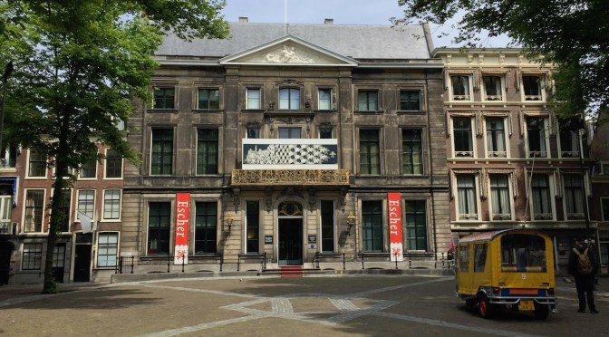 outside of the Museum Escher in the Palace in The Hague, the Netherlands