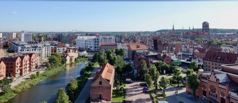 view of Gdańsk from the observation wheel, Amber Sky, located on Ołowianka island