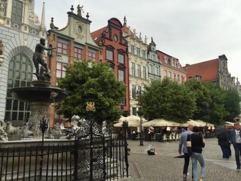 Neptune Fountain in Długi Targ (Long Market) in Gdańsk, Poland