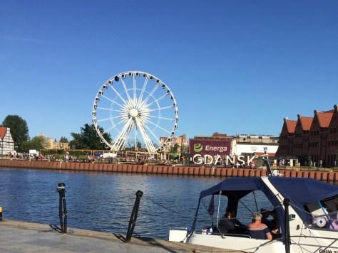 observation wheel, Amber Sky, located on Ołowianka island, Gdańsk, Poland