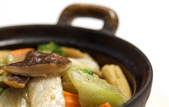 Claypot Tofu and Vegetables