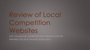 Review of local independent and private school websites that are competitors for students. Prepared for the design company based on input from the local design committee.