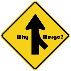 why merge road sign