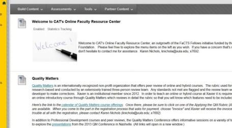 CAT's Online Faculty Resource Center