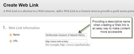 image of descriptive link example