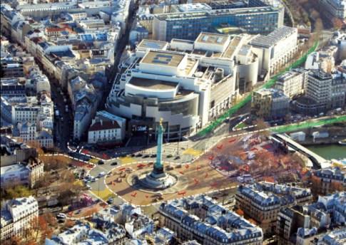 Place de la Bastille-nuovo progetto_Parigi