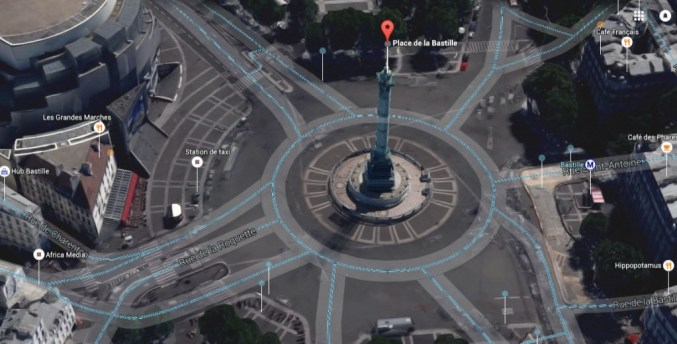 Place de la Bastille-stato attuale Parigi