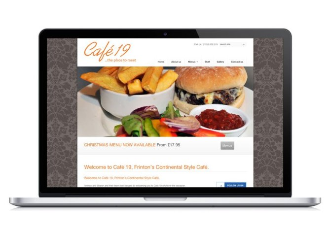 Cafe 19 Frinton website