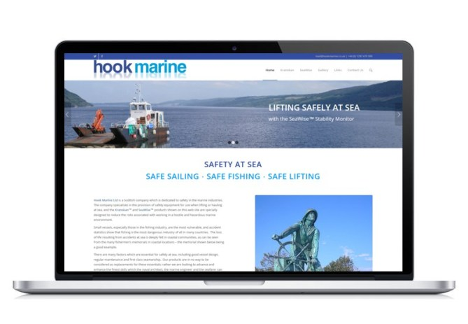 Hook Marine website